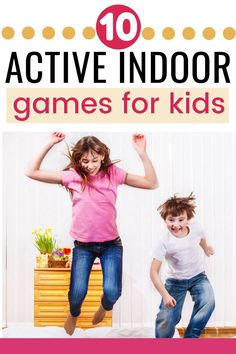I love these indoor activities for kids to do when they're stuck inside! These are physically active indoor activities for kids that will tire them out and burn up energy on days they are stuck in the house. Kids need to be active! And these indoor activity ideas for kids that need to be busy and moving around are exactly what you need to help them get the wiggles out and stop driving you crazy when you're all stuck indoors! #indooractivities #kidactivities #activityideas #parenting #kids