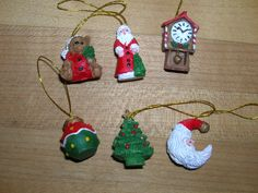 Set of 6 Miniature Christmas Ornaments by TillyFritz on Etsy, $4.99