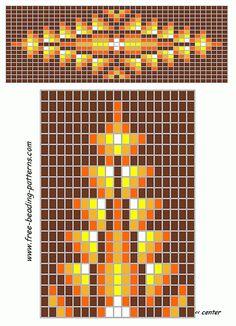 free-beading-patterns-barrette-golden-starburst Native Beading Patterns, Beadwork Designs, Weaving Patterns, Seed Bead Patterns, Beaded Bracelet Patterns, Jewelry Patterns, Native Indian, Beaded Hat Bands, Native American Beadwork