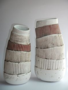 Shelley Maisel | ceramic. start with pinch pot and add textured slabs?