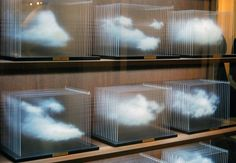 Don`t you forget about clouds.  Most visited at The Armory Show 2012 installation of Leandro Erlich 'La Vitrina Cloud Collection'. Made out of wood, glass, acrylic and solid surface it displays, diorama-like, different clouds of London.