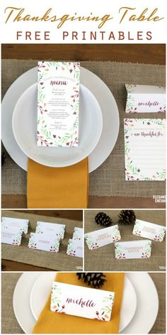 Free Thanksgiving Table Printables