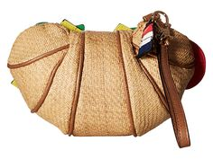 Betsey Johnson Croissandwich Wristlet Tan - 6pm.com