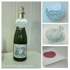 Crochet Heart Motif With Variations By Hege - Free Crochet Pattern - (heldesign)