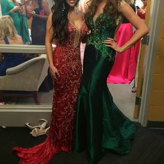 Mac Duggal evening gown Prom, ball, or evening gown• one of a kind Mac Duggal. This dress was originally $5,000• only worn once for about an hour or less on stage for a pageant. The back of the dress drops down low to just above the behind. Mac Duggal Dresses