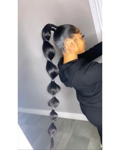 Fake Scalp Full Lace Wig Straight Human Hair wig Probably you realize a locks Big Ponytail, Bubble Ponytail, Hair Ponytail Styles, Sleek Ponytail, Curly Hair Styles, Side Ponytails, Box Braids Hairstyles, Straight Hairstyles, Natural Hairstyles