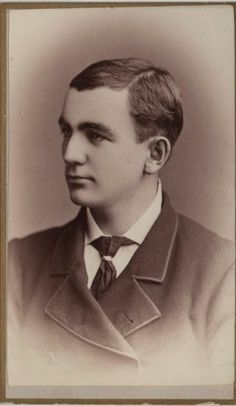Cabinet card photo of a handsome Victorian man by Bracy of Jackson, Michigan, 1879