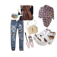 Untitled #1 by roxanalavricuti on Polyvore featuring polyvore fashion style Vince Abercrombie & Fitch Yves Saint Laurent Maybelline