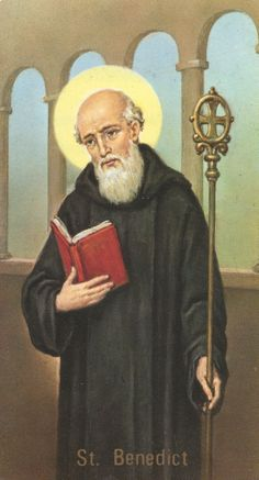 St Benedict holy Card