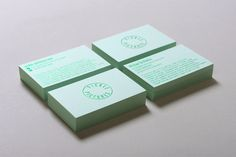 Our Work   Liquorice Studio [love the metallic kelly green ink with the mint green paper!]