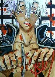 Peacemaker Kurogane fanart ( akrylic painted)