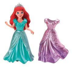 NEW Disney Princess Ariel Doll Figure 2 Dresses MagiClip Magic Clip Polly Pocket