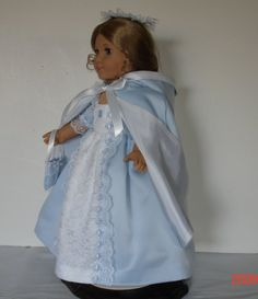 ICE PRINCESS BALL DRESS WITH CAPE AND by MargaretteDesigns4AG