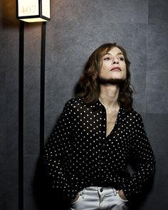 Edouard Caupeil, Cannes, le 20 mai 2016 : l'actrice Isabelle Huppert (pour Libération)