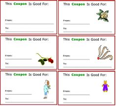 free father's day coupons templates