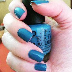 "Smalto O.P.I azzurro/cobalto ""Suzi Says Feng Shui"""
