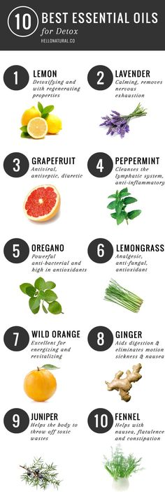 10 Best: Essential Oils for Detox | http://helloglow.co/essential-oils-for-detox/