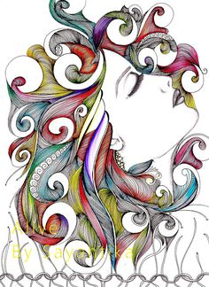 Doodle Art Drawing, Zentangle Drawings, Pencil Art Drawings, Zentangle Patterns, Art Drawings Sketches, Zentangles, Mandala Art, Mandala Drawing, Art Zen