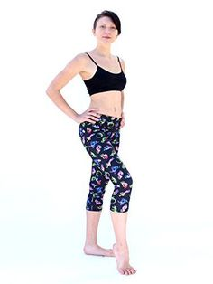 d087ebb420 Women's Capris Rainbow Kokopelli print in 4 way stretch with moisture  wicking, From Street to. Yoga Berries Guru