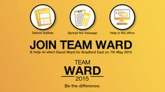 95 days until the election. Can you donate and help our ground campaign? #DavidWardforBradford http://www.davidwardforbradford.org.uk/donate