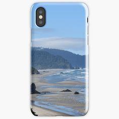 """Long sandy beach facing rough ocean"" iPhone Case & Cover by Artlajf   Redbubble Iphone Wallet, Iphone 11, Iphone Case Covers, Ocean, Explore, Beach, Nature, Prints, Art"