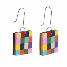Satisfy your quench for color with these fun, fresh blocks. Marimekko Muutos Multicolor Earrings - $29