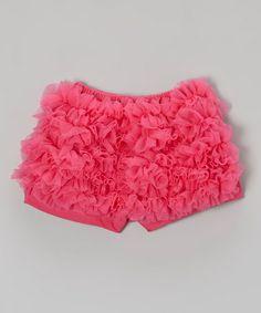 Look what I found on #zulily! Hot Pink Ruffle Undershorts - Infant, Toddler & Girls by Lily Aurora #zulilyfinds