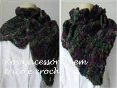 Maxi gola tricot - knitting - winter - knited by www.rosaacessorios.blogspot.com