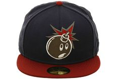 The Hundreds Adam Bomb Fitted Hat by New Era Dressed To The Nines, The Hundreds, Baseball Hats, Navy, Fitness, Fashion, Hale Navy, Moda, Baseball Caps