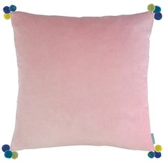 Bluebellgray Blush Velvet Cushion - 60x60cm ($110) ❤ liked on Polyvore featuring home, home decor, throw pillows, pink, textured throw pillows, pink accent pillows, pink toss pillows, velvet throw pillows and pink home decor