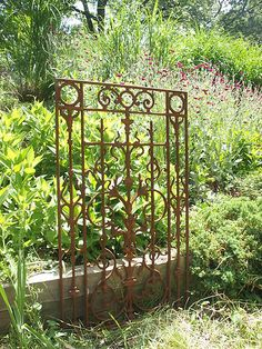 Large Cast Iron Gate Section Ornate Grate GARDEN ARCHITECTURAL CAST WROUGHT