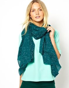 C-Starry Sky Bottle Green Scarf