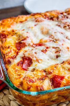 Easy Pizza Casserole From The Food Charlatan This Easy Pizza