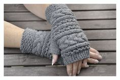 Grey Fingerless mittens , Fingerless mittens ,  gloves, hand knit fingerless mittens ,  fingerless gloves, knit gloves