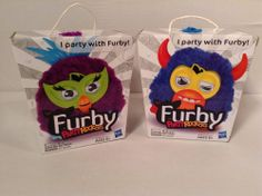 New Furby Party Rockers Creature Purple & Dark Blue with Horns