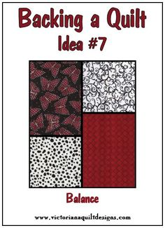 Backing a Quilt Idea #7 -great way to stash bust