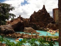 They have two water slides at the Disney Resort, The Aulani in Hawaii