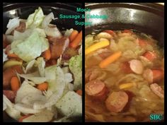 Simple Sausage & Cabbage supper in Slow Cooker