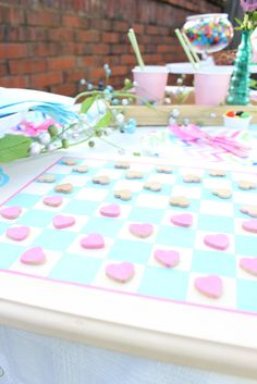 How To Plan An Outdoor Summer Sweets Party and DIY Board Game
