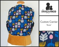 A custom Sleepy Nico carrier with class. We love 'Rosie', a bold and beautiful print contrasting against the gorgeously golden corduroy. Ergonomic Baby Carrier, Vera Bradley Backpack, Corduroy, Contrast, Bags, Beautiful, Handbags, Taschen, Purse