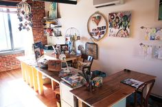 Kellie Rae Robinson calendar art | My dad built us each a desk made from old reclaimed wood. It's hard to ...
