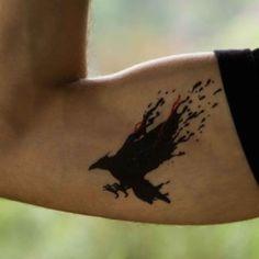 Raven - tatuagem temporária Tatuli (tem várias lindas!)