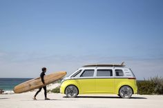 The Next-Generation Volkswagen ID Buzz Bus Will Be Loaded With Cutting-Edge Self-Driving Tech - Maxim Volkswagen Bus, Vw T1, Vw Camper, Beach House Style, Electric Van, Automobile, Vanz, Mini Bus, Van