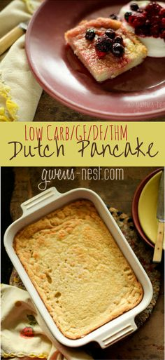 This Dutch pancake recipe is deliciously sugar free, gluten free, and dairy free! And it's THM friendly.