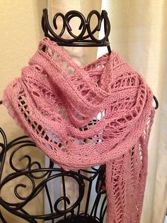 Ravelry: Project Gallery for Lace Ribbon Scarf pattern by Veronik Avery