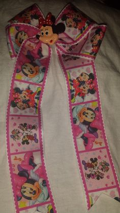 Minnie Mouse Cheerleader Style Bow by GumpiegirlsGifts on Etsy
