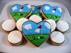 Golf Cookies by SweetStacey's, via Flickr