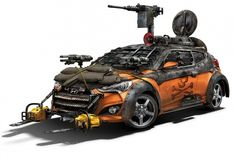 Walking Dead Hyundai Veloster Zombie Survival Machine Debuts - MotorTrend WOT