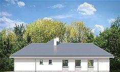 Elewacja prawa projektu Willa Parterowa Solar Panel Cost, Solar Panels, Bungalow, Civil Construction, Precast Concrete, Modern Farmhouse Exterior, Natural Home Decor, New Builds, Home Fashion