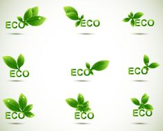 Free - Eco elements vector set 04